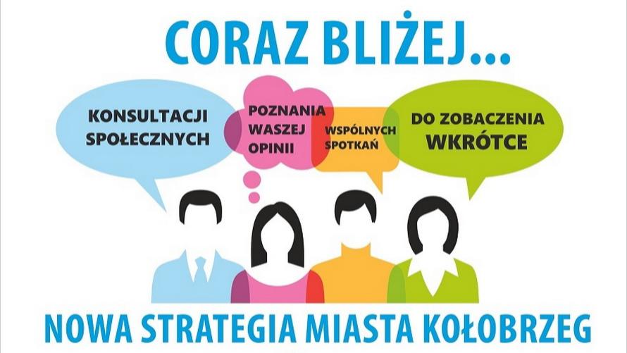 Plakat Konsultacje społeczne - Strategia Smart City Miasta Kołobrzeg