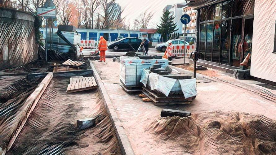 Remont podwórka przy ul. Wojska Polskiego