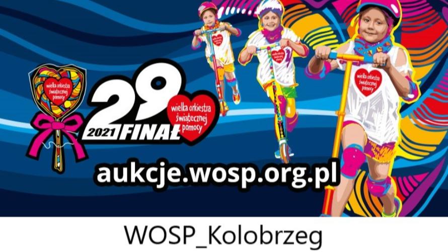 Wystartowały licytacje Sztabu WOŚP Kołobrzeg - plakat informacyjny