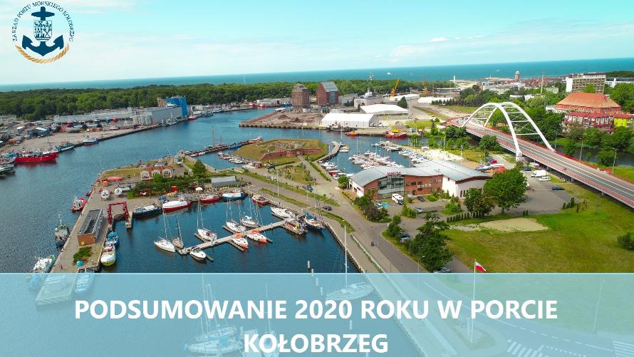 Podsumowanie 2020 roku w wykonaniu Portu Kołobrzeg