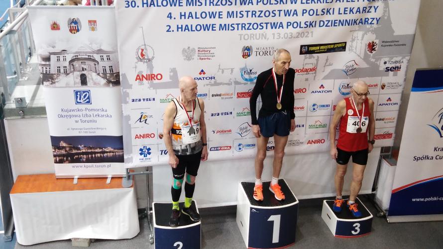 3 medale Andrzeja Wyganowskiego na Mistrzostwach Polski Masters