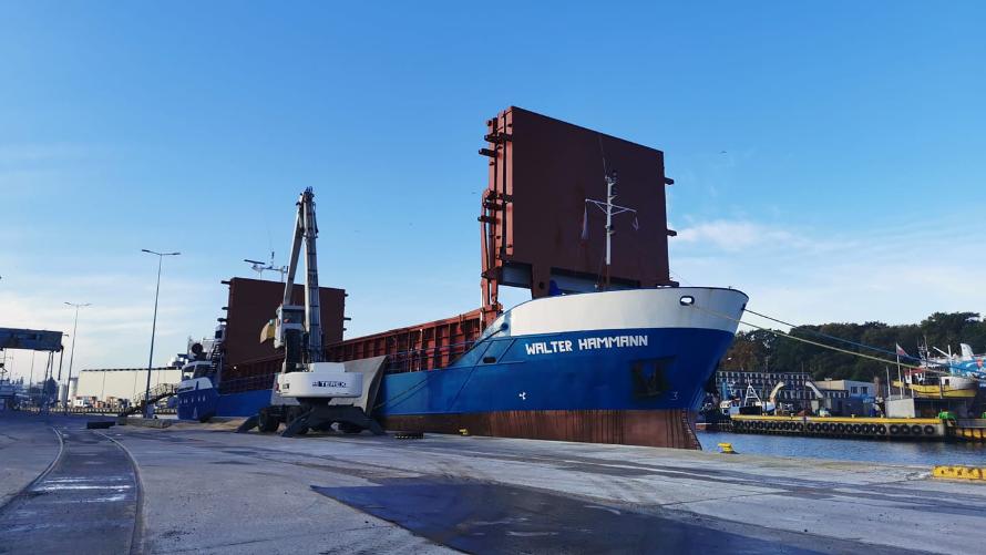 Port Kołobrzeg zwiększa przeładunki