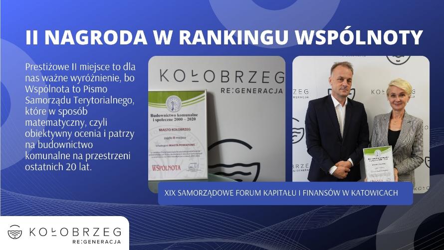 II nagroda w rankingu Wspólnoty